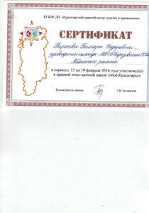 сертификат участнику мое красноярье 2016